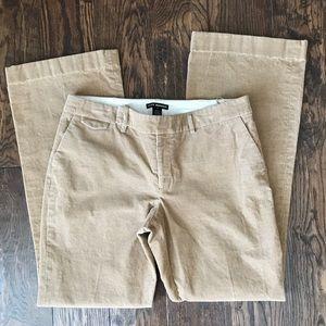 Club Monaco Tan Corduroy Wide Leg Trousers, sz 10